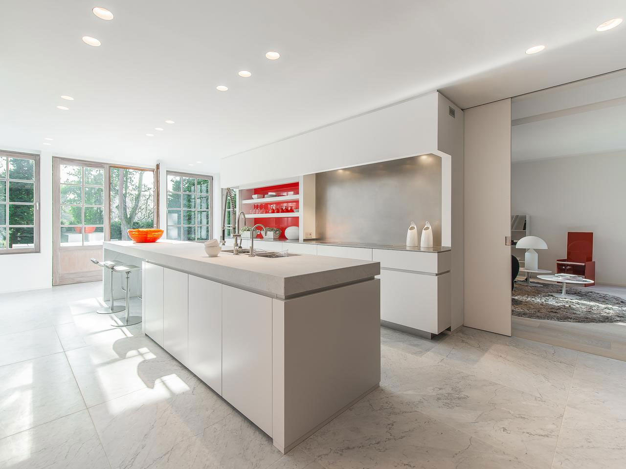 Breakfast Bar, Kitchen Island, House Renovation in Sint-Genesius-Rode, Belgium