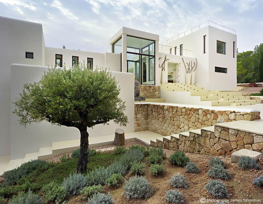 Entrance, Steps, Natural Stone Walls, Villa in Ibiza