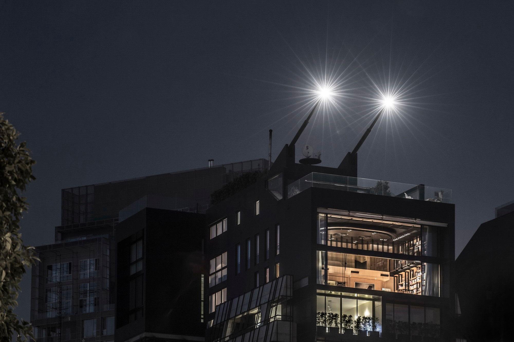 Evening, Lighting, Penthouse Apartment in Beirut, Lebanon