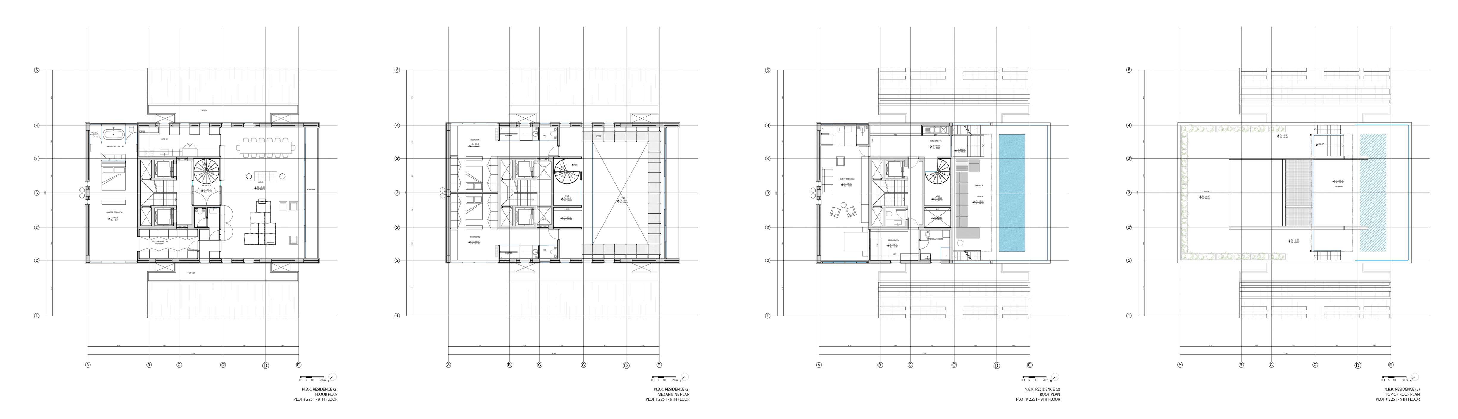 Floor Plan, Penthouse Apartment in Beirut, Lebanon