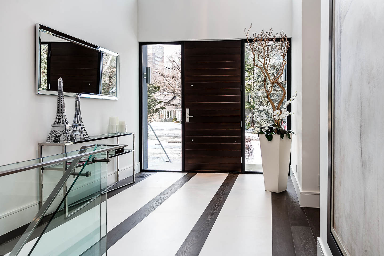 Front Door, Entrance, Contemporary House in Toronto, Canada