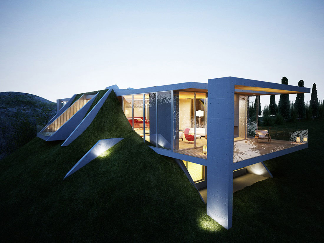 Contemporary Architecture Embracing Nature: Earth House Project