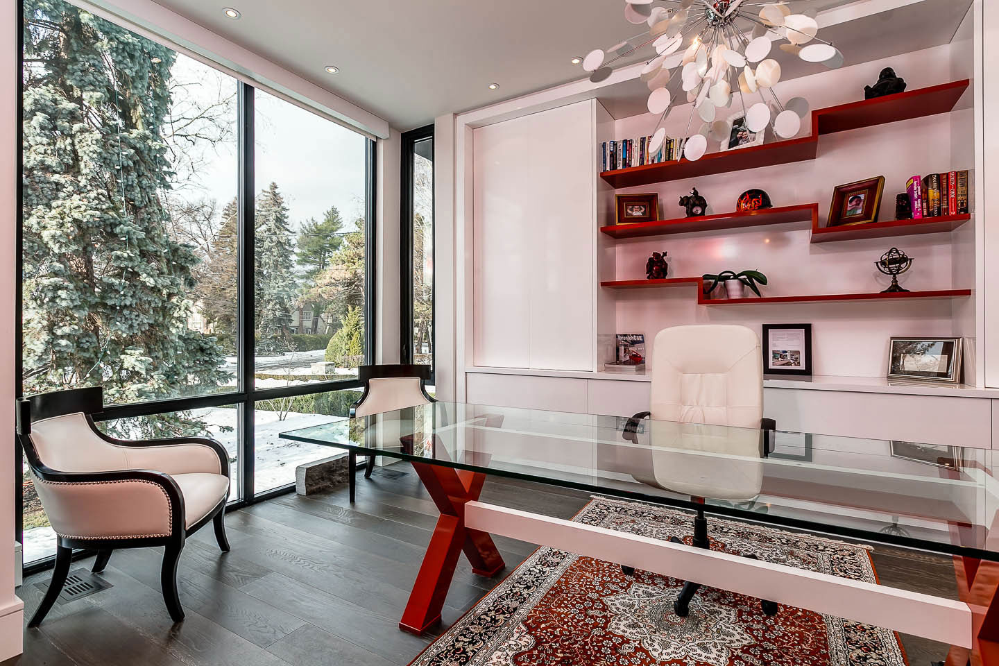 Home Office, Contemporary House in Toronto, Canada