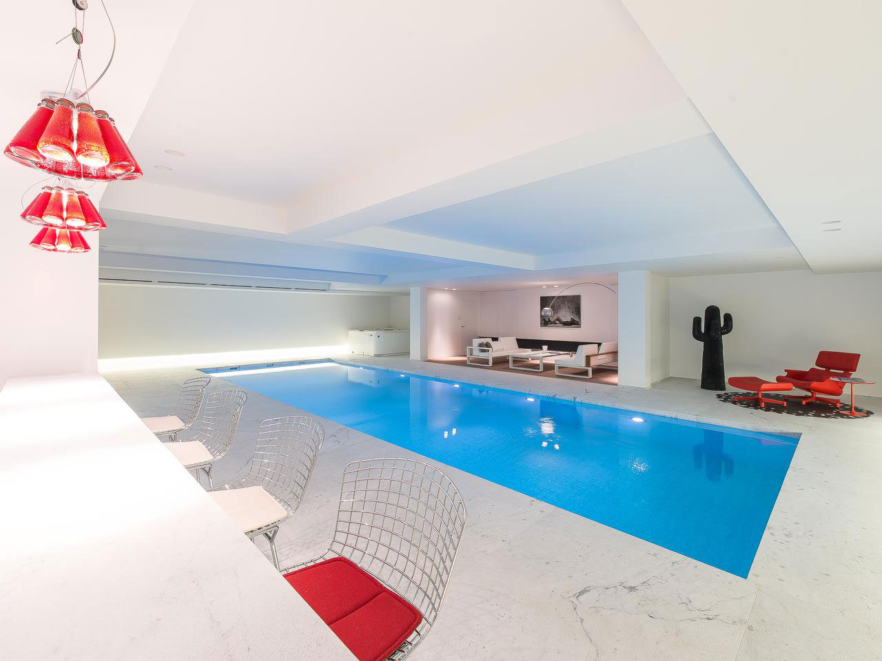 Indoor Swimming Pool, Bar, Lighting, House Renovation in Sint-Genesius-Rode, Belgium