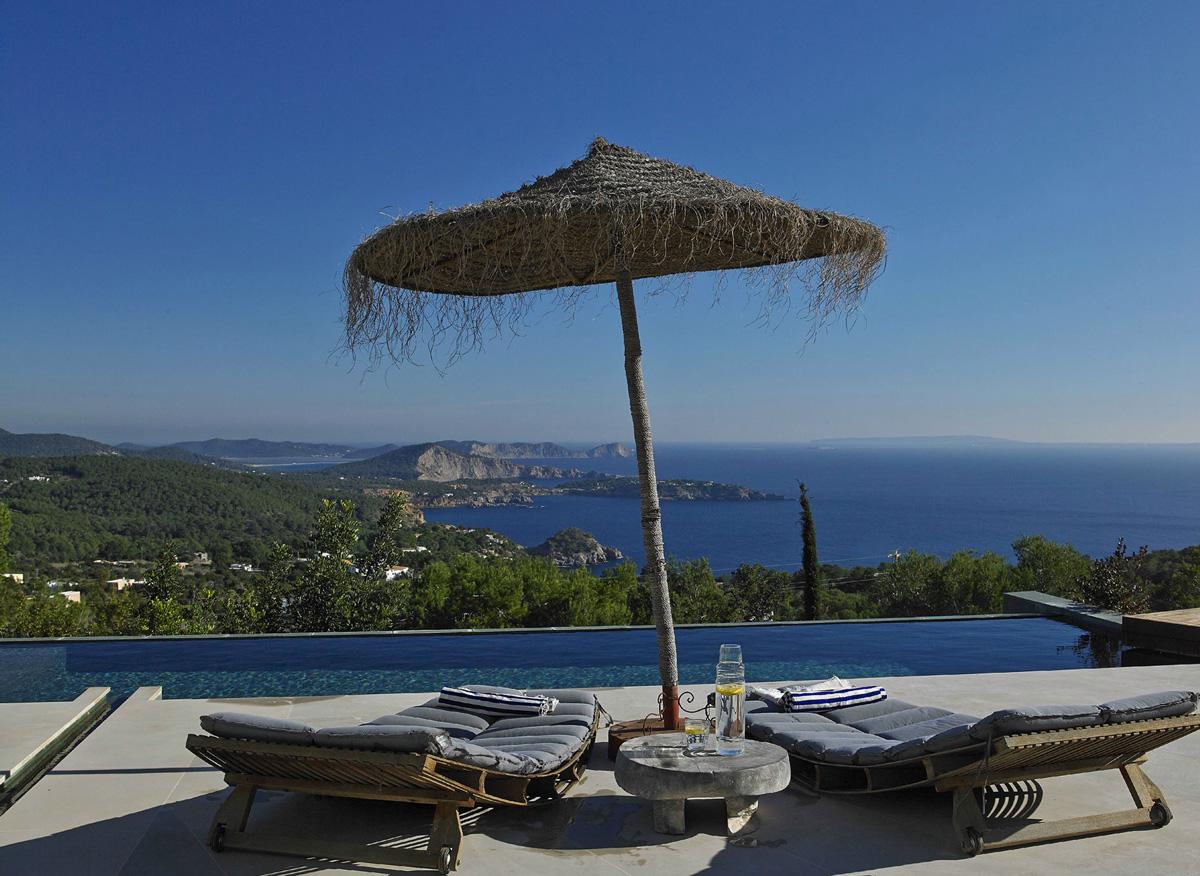 Sea Views, Infinity Pool, Terrace, Modern House in Ibiza, Spain