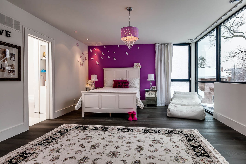 Children's Bedroom, Contemporary House in Toronto, Canada