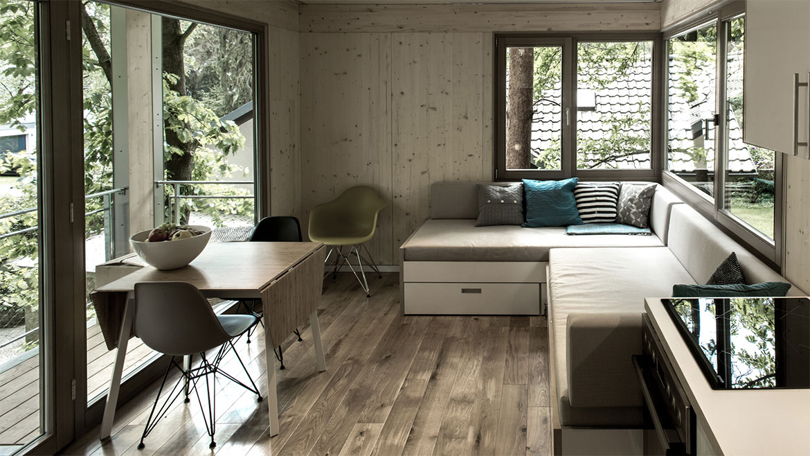 Kitchen, Living & Dining Space, Urban Treehouse in Berlin, Germany