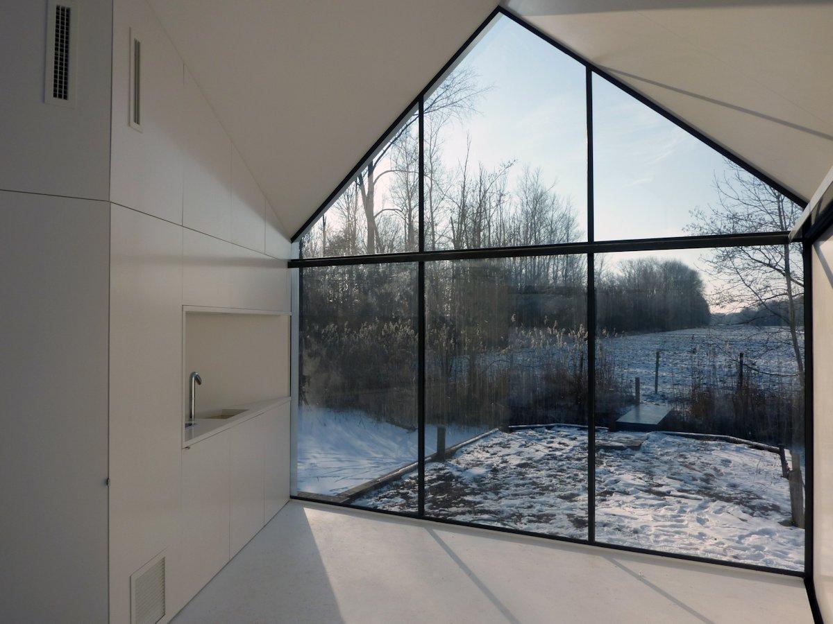 Kitchen, Sink, Floor-to-Ceiling Window, Holiday House in Loosdrechtse