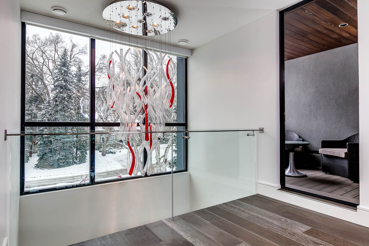 Lighting, Glass Balustrading, Contemporary House in Toronto, Canada