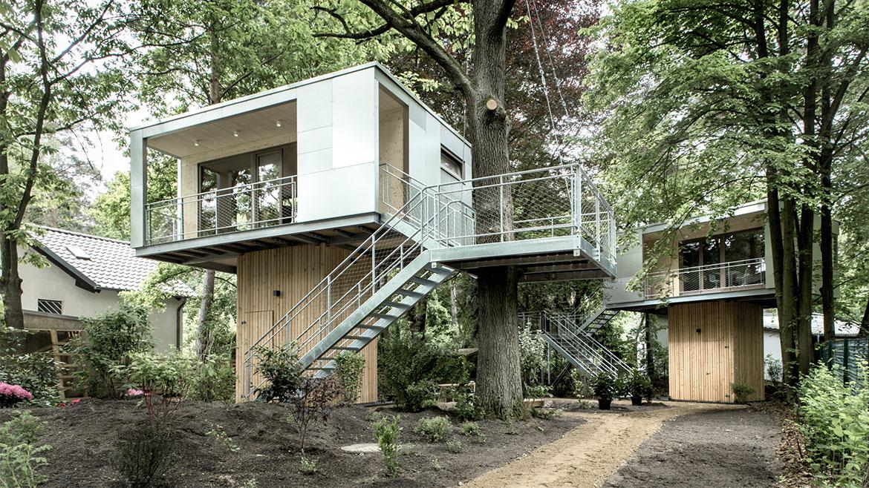 Metal Stairs, Urban Treehouse in Berlin, Germany