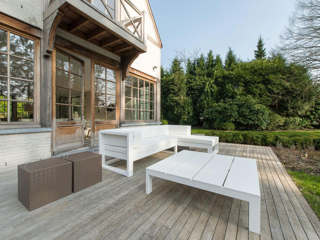 Wooden Deck, Terrace, Outdoor Furniture, House Renovation in Sint-Genesius-Rode, Belgium