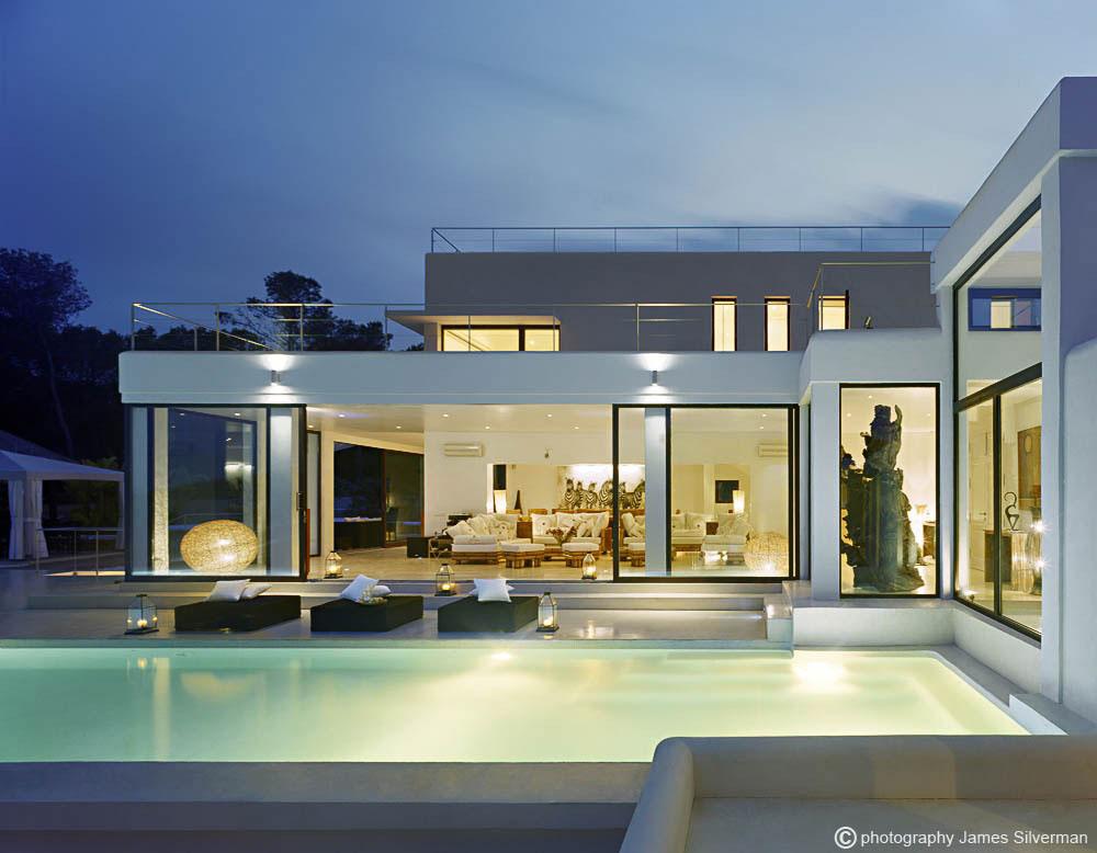 Pool, Lighting, Terrace, Glass Sliding Doors, Villa in Ibiza
