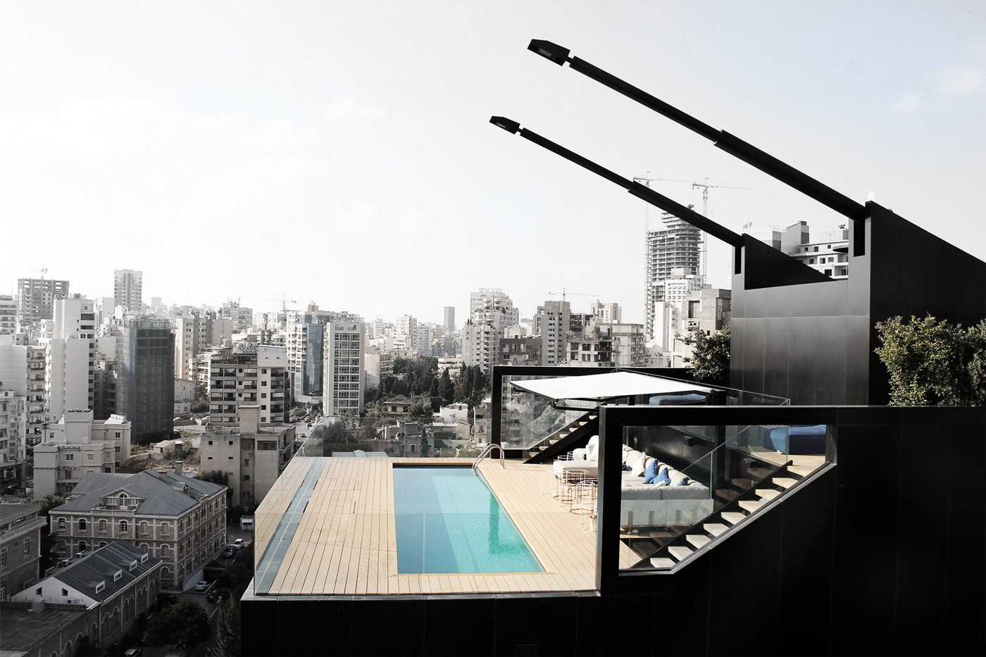 Rooftop Pool, Penthouse Apartment in Beirut, Lebanon