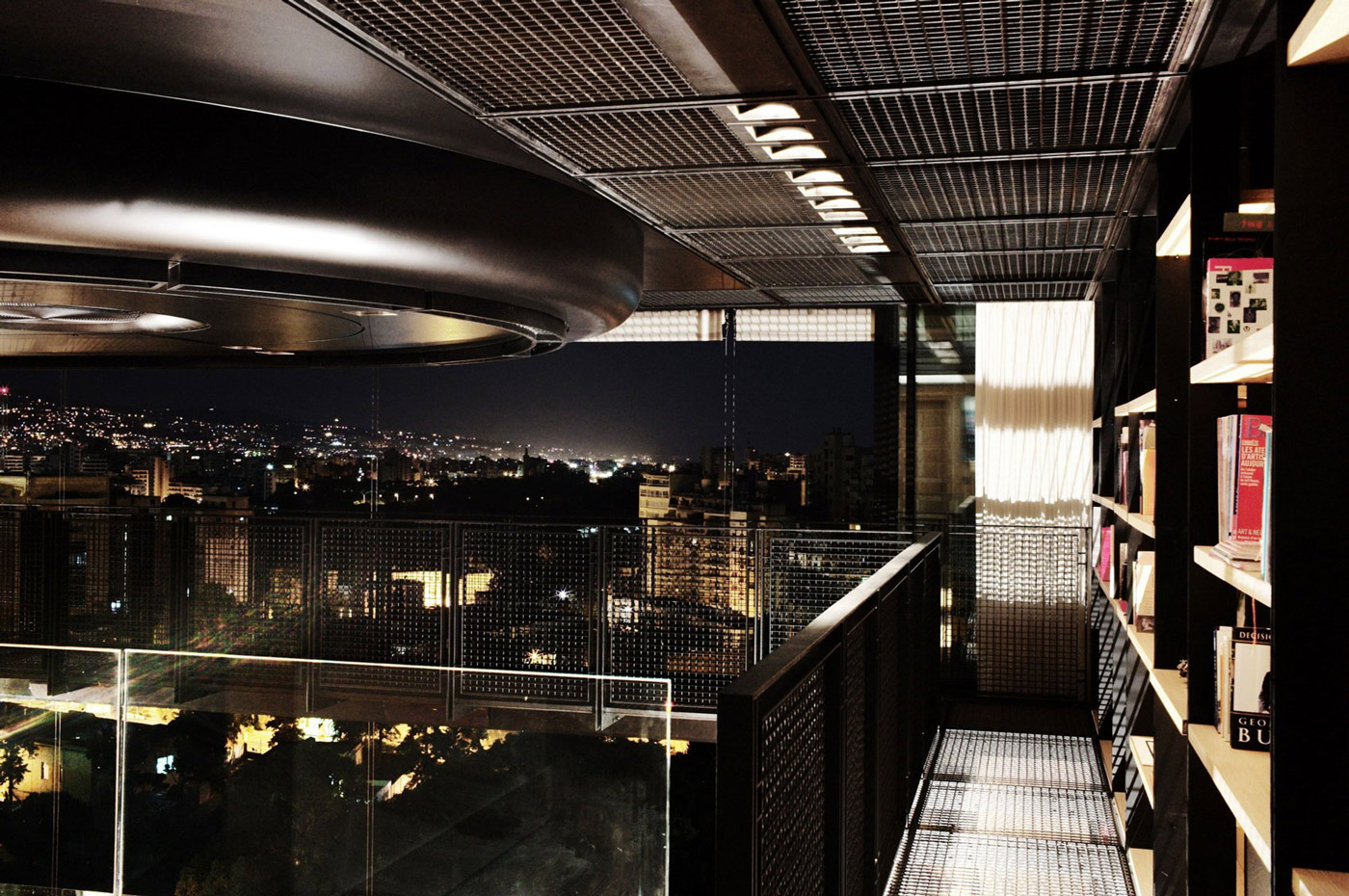 Views, Book Shelves, Penthouse Apartment in Beirut, Lebanon