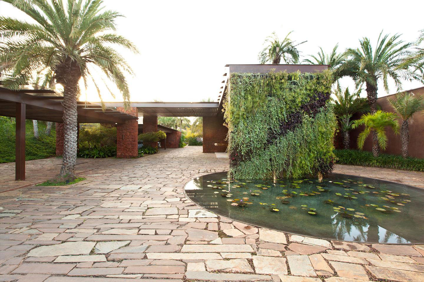 Water Feature, Driveway, House in Nova Lima, Brazil