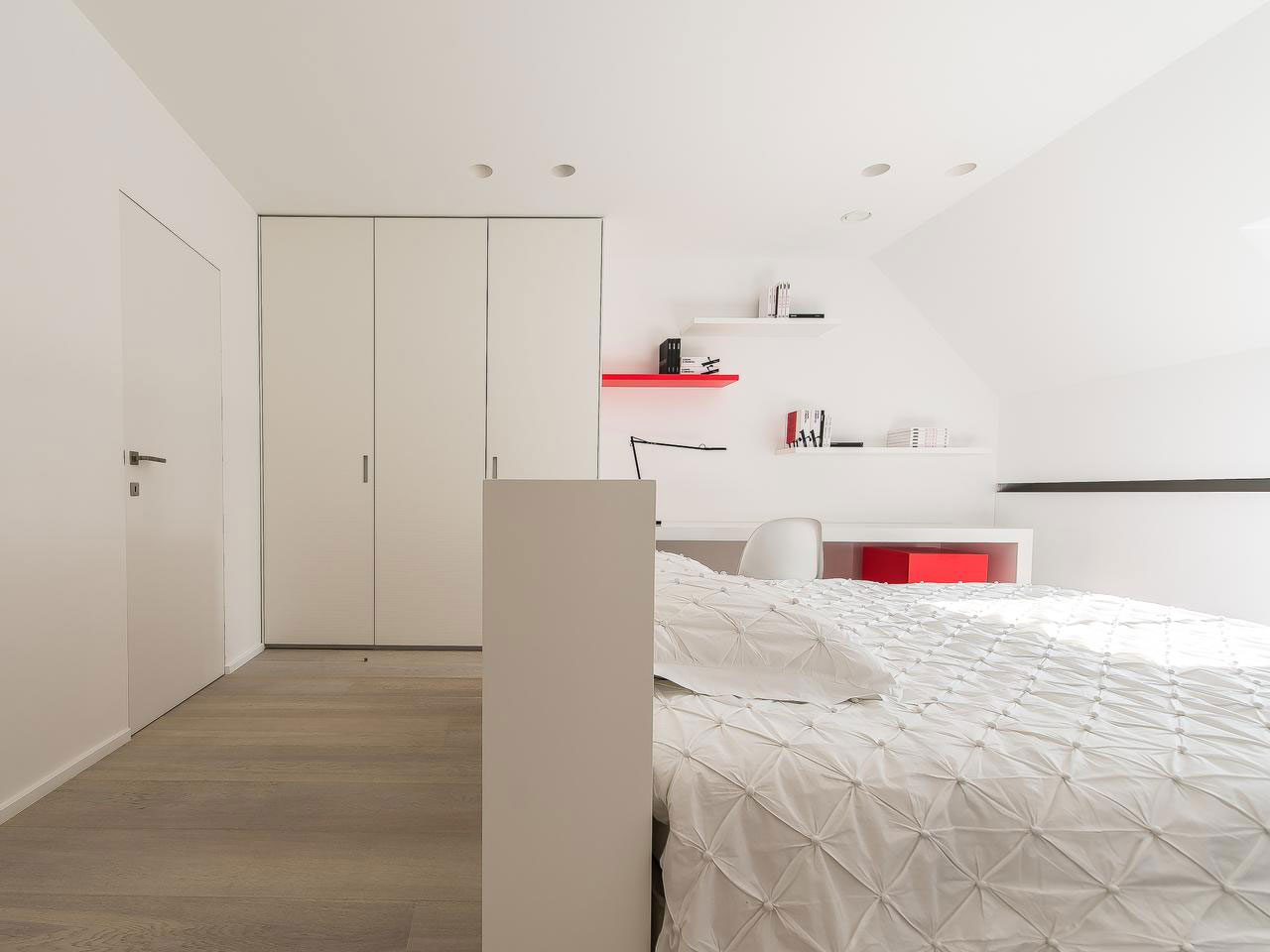 White Bedroom, House Renovation in Sint-Genesius-Rode, Belgium