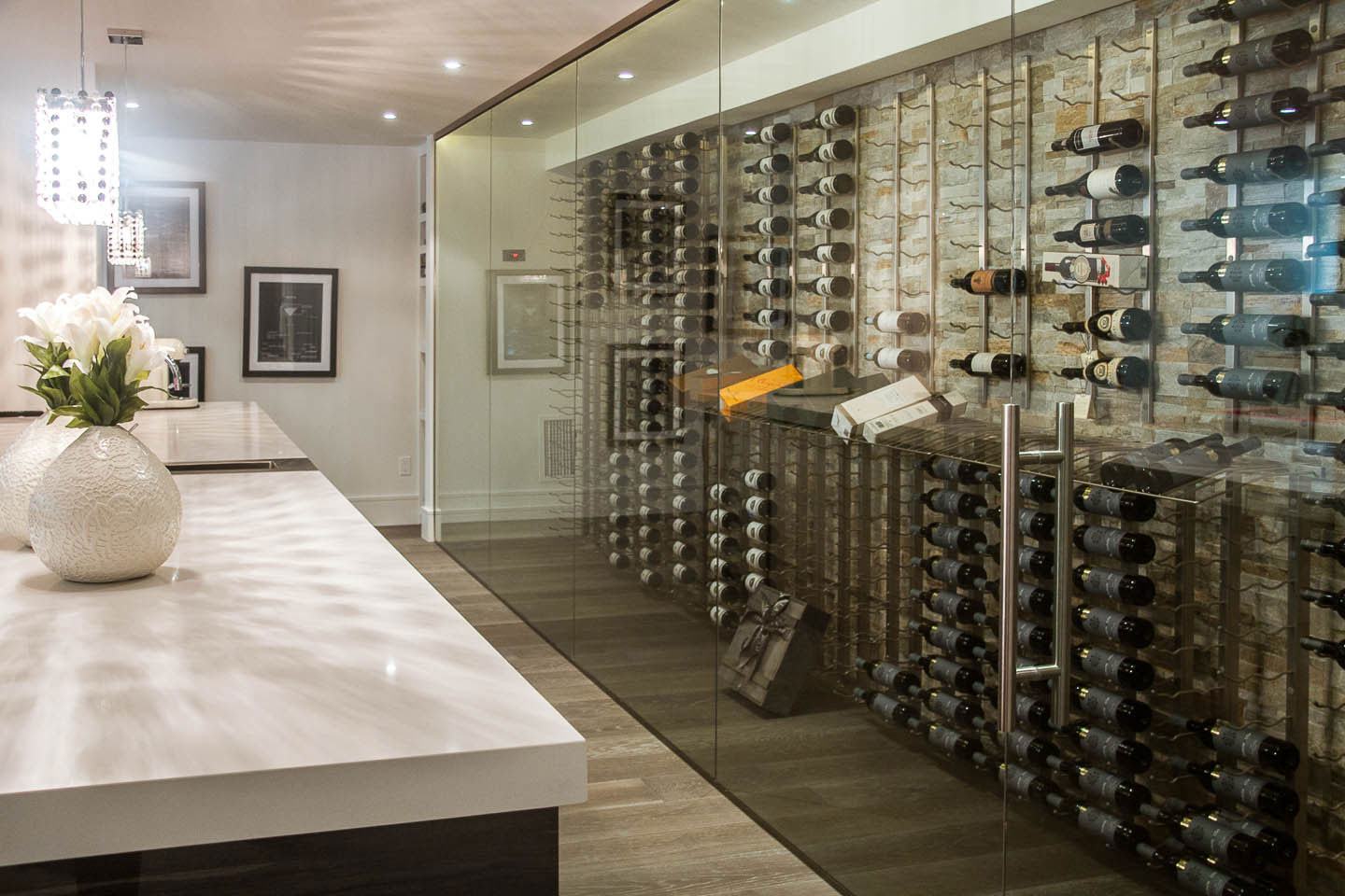 Wine Store, Contemporary House in Toronto, Canada
