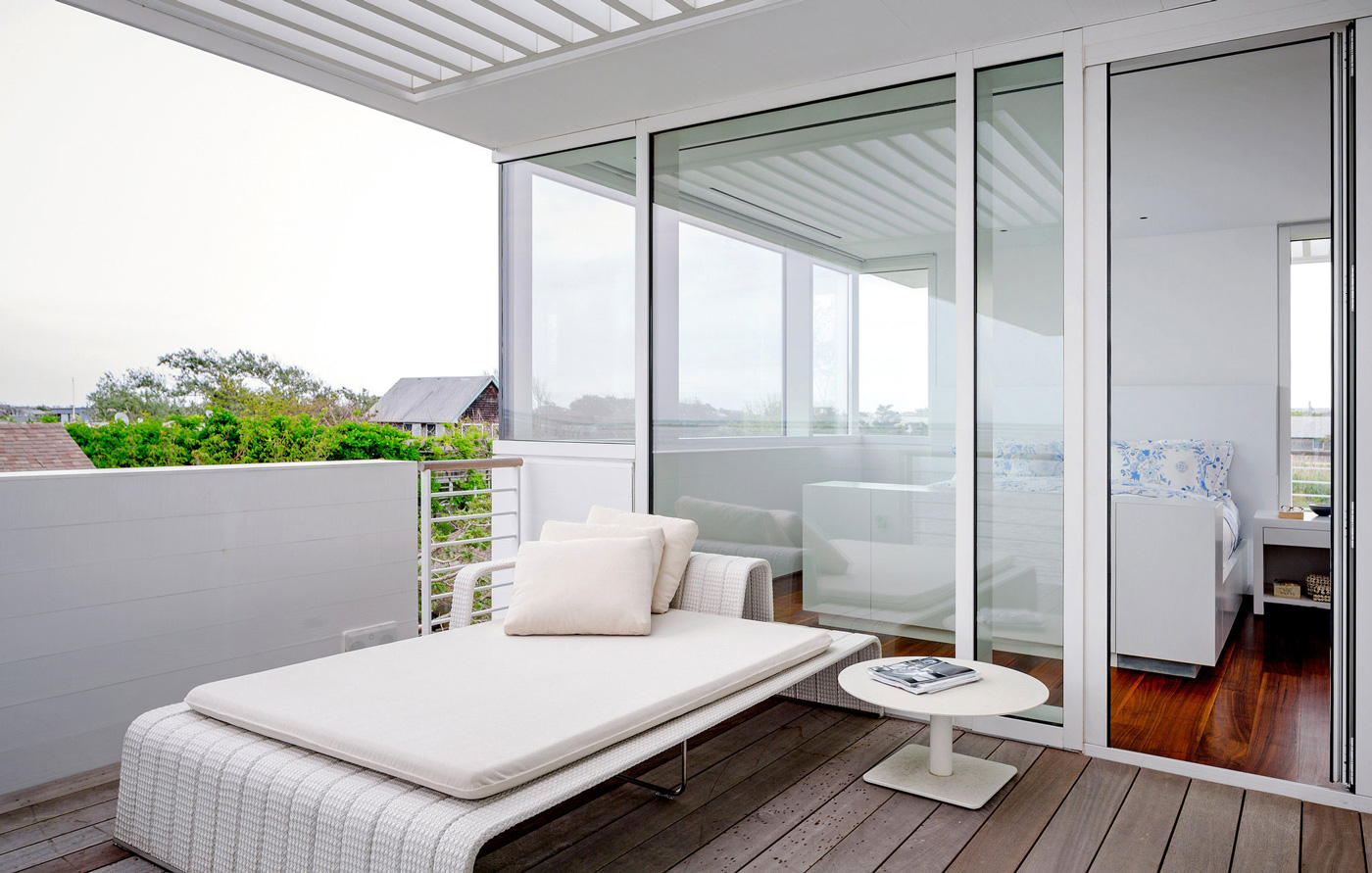 Patio Doors, Balcony, Richard Meier's Fire Island House