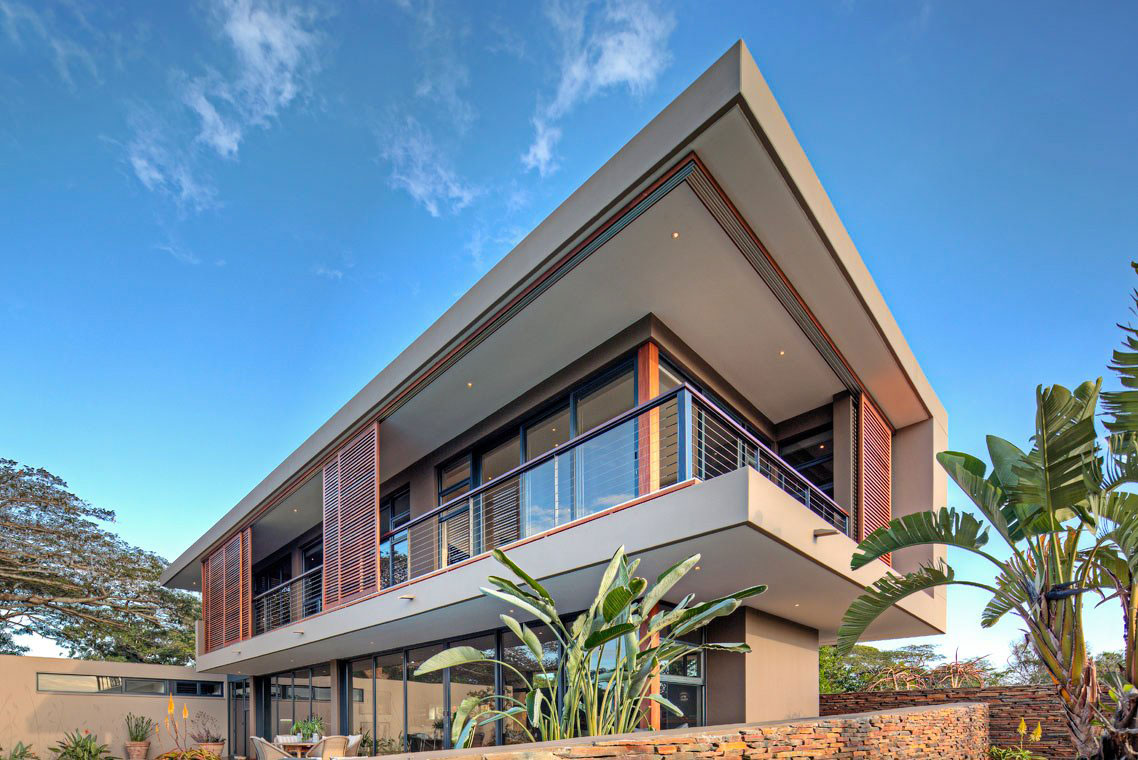 Balcony, Contemporary Residence in Kwa Zulu Natal