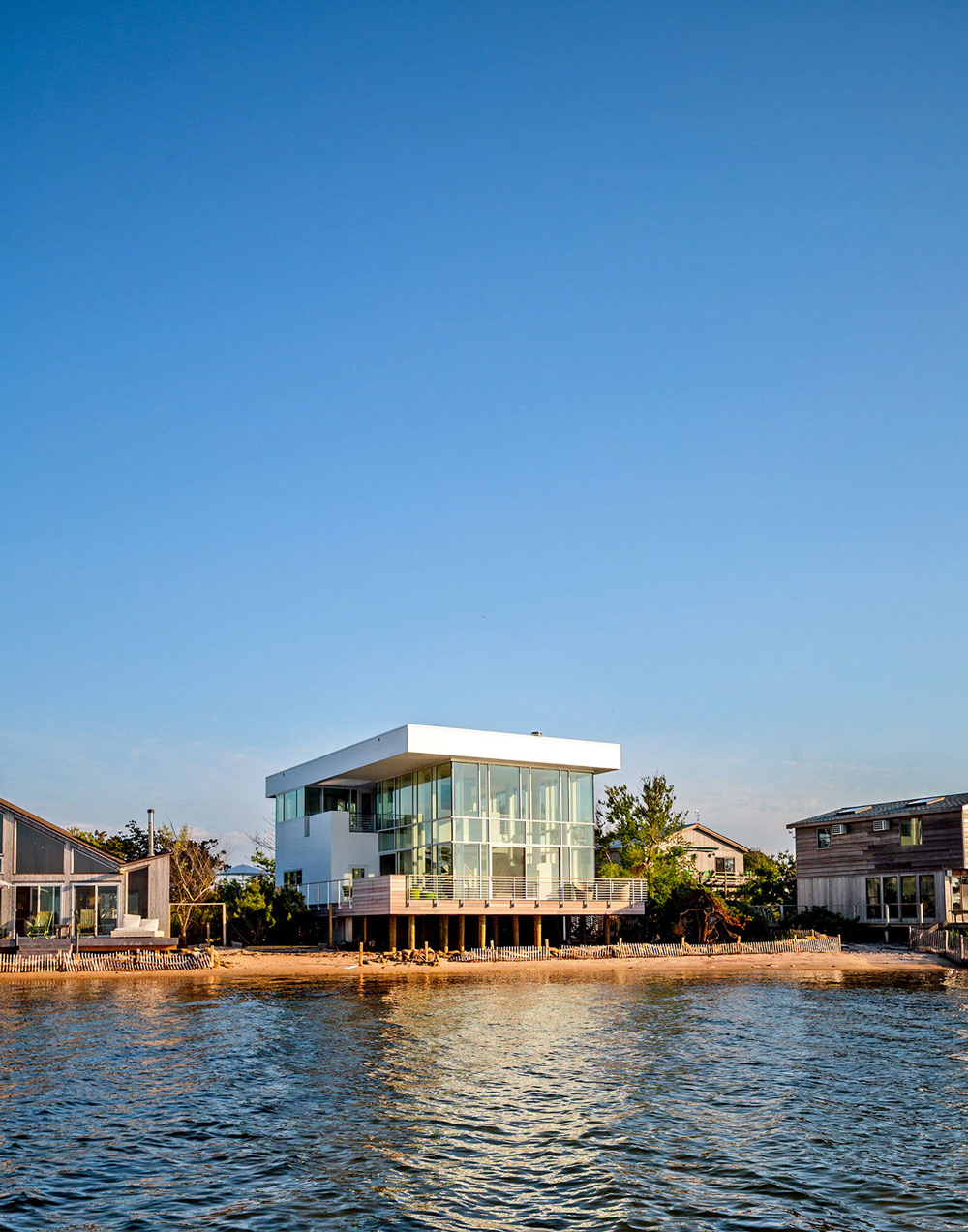 Beach, Balcony, Richard Meier's Fire Island House