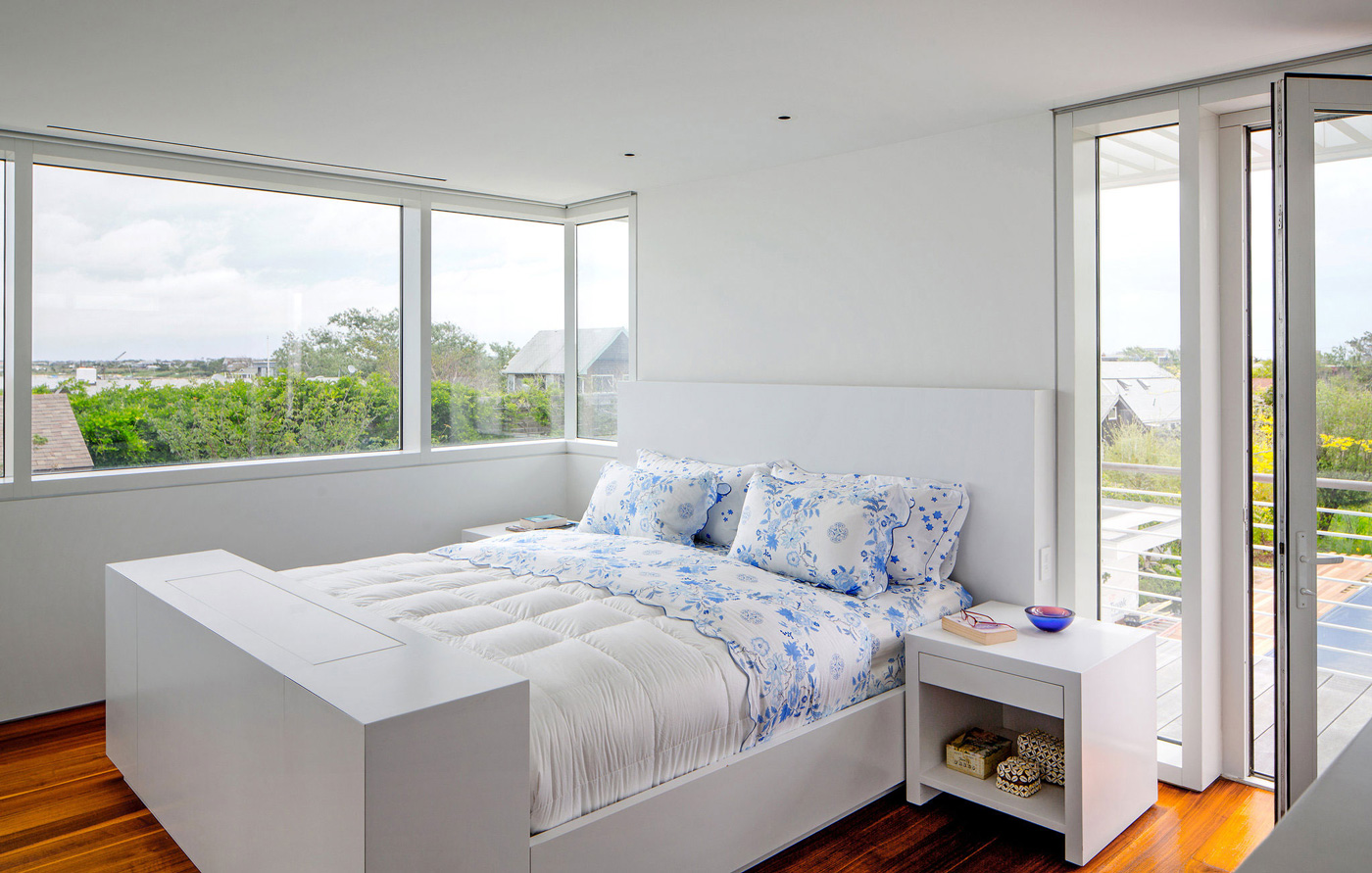 Bedroom, Richard Meier's Fire Island House