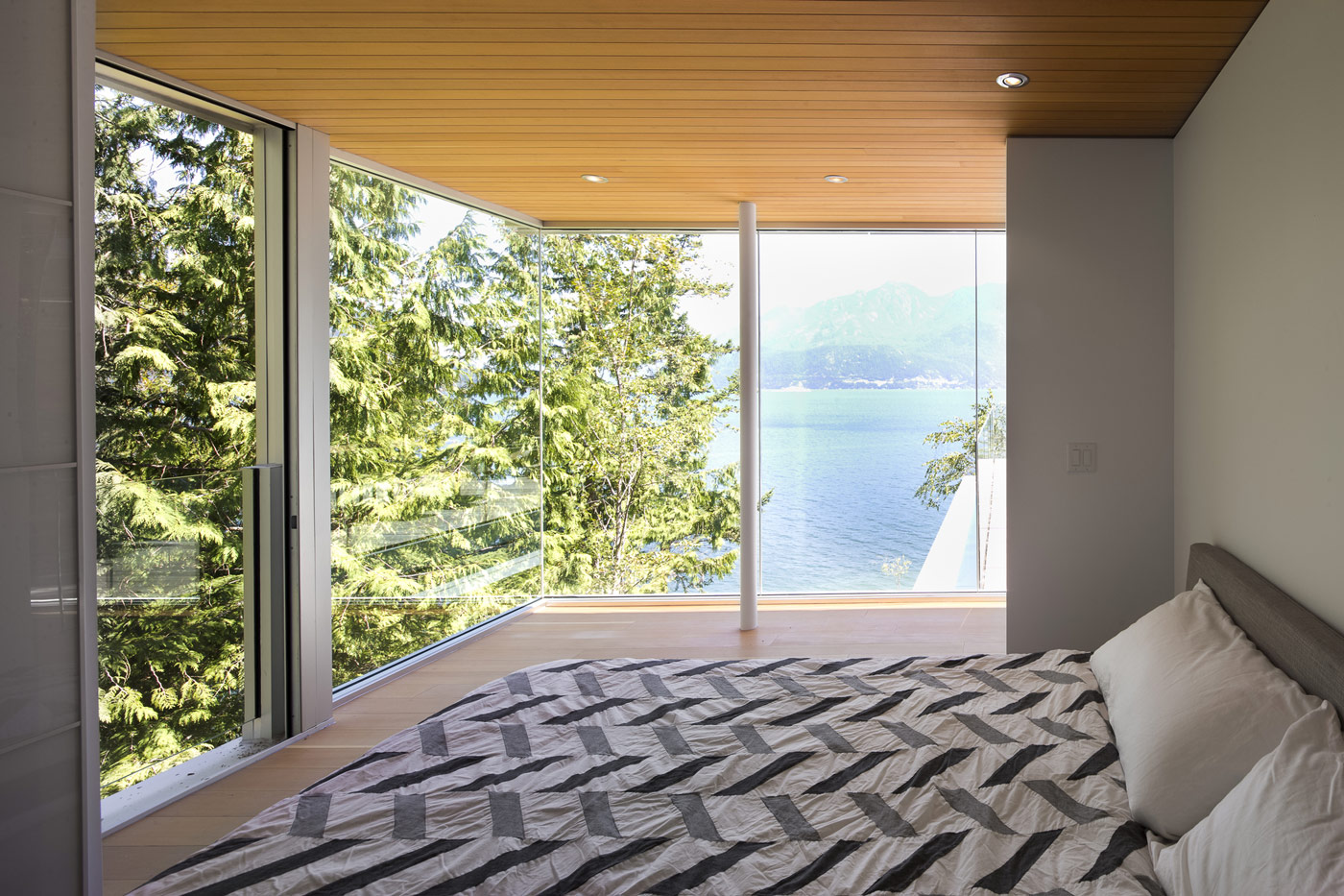 Bedroom, Water Views, House on Gambier Island, British Columbia