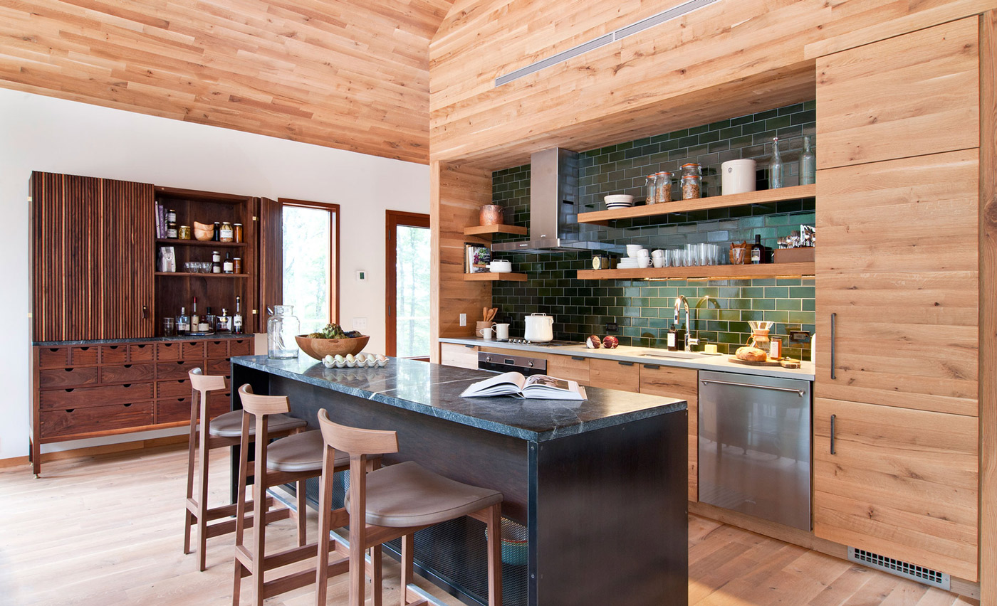 Breakfast Bar, Kitchen Island, Wood and Glass House in Kerhonkson