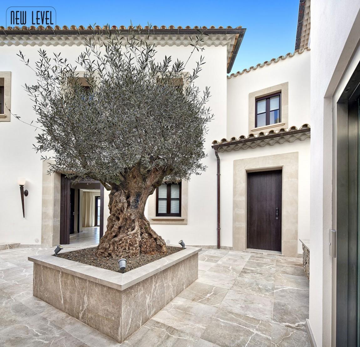 Entrance, Marble Tiles, Fabulous Villa in Puerto de Andratx, Mallorca