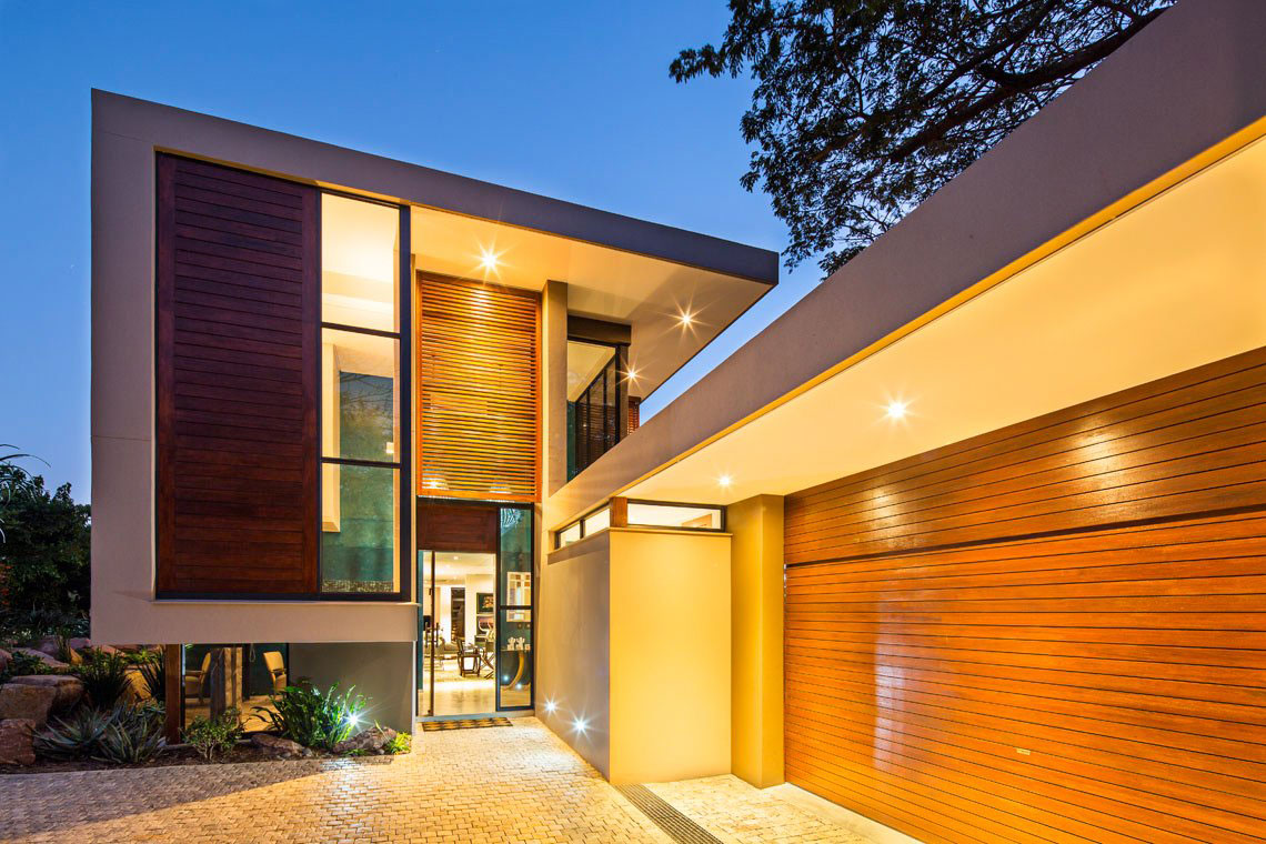 Garage, Entrance, Contemporary Residence in Kwa Zulu Natal