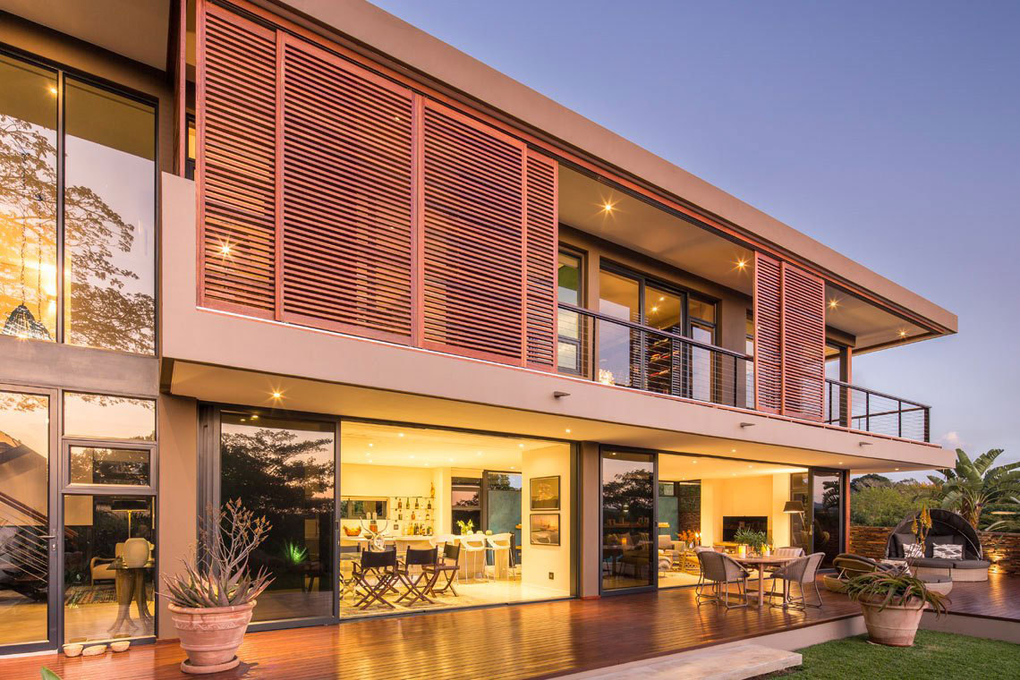Glass Sliding Doors, Contemporary Residence in Kwa Zulu Natal