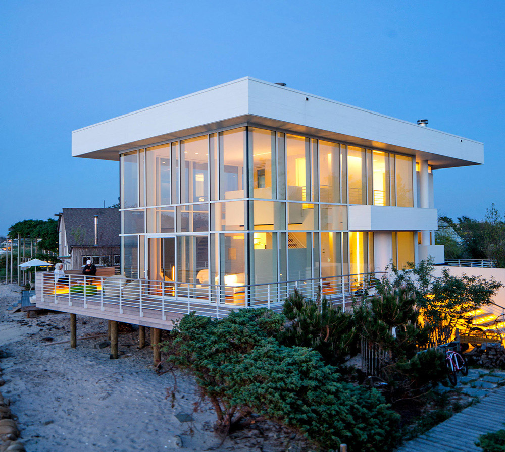 Fire island house by richard meier for Island home designs