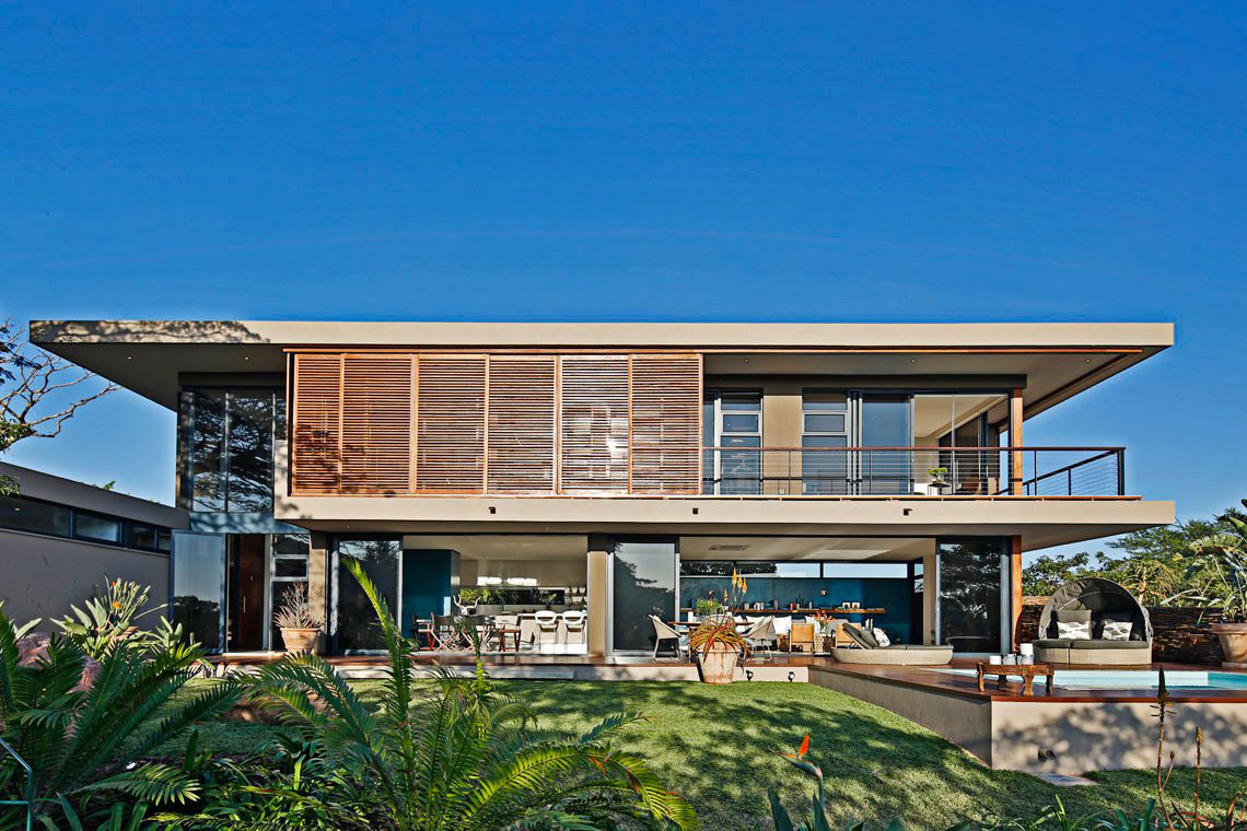 Lawn, Back Garden, Contemporary Residence in Kwa Zulu Natal