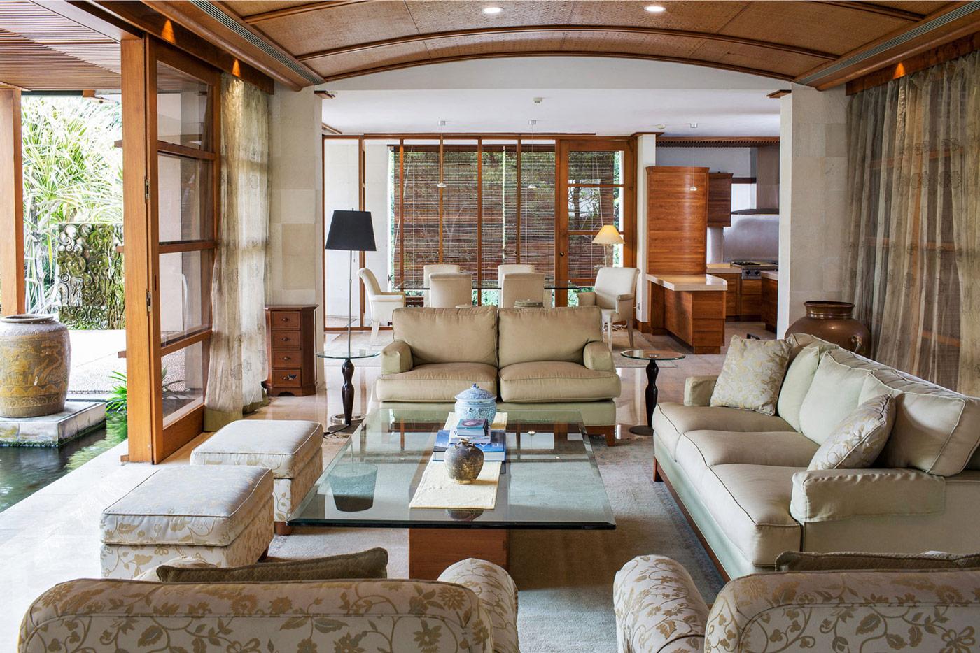 Living Room, Sofas, Glass Coffee Table, Home in Kuala Lumpur, Malaysia
