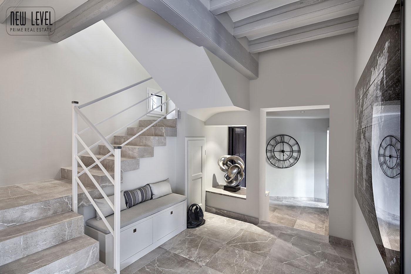Marble Staircase, Art, Fabulous Villa in Puerto de Andratx, Mallorca