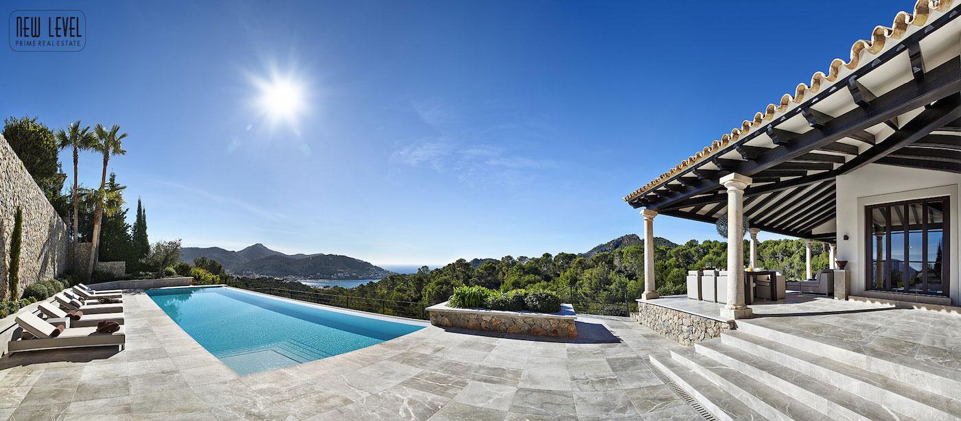 Marble Tiles, Terrace, Infinity Pool, Fabulous Villa in Puerto de Andratx, Mallorca