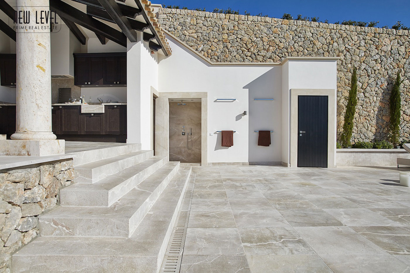 Natural Stone Wall, Terrace, Shower, Outdoor Kitchen, Fabulous Villa in Puerto de Andratx, Mallorca