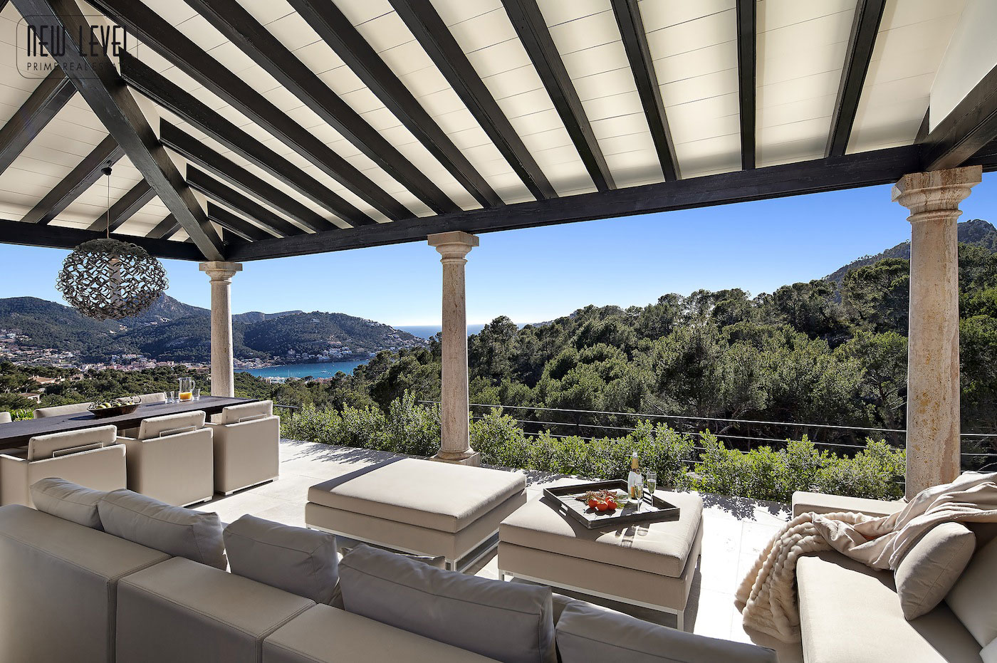 Outdoor Living, Veranda, Views, Fabulous Villa in Puerto de Andratx, Mallorca