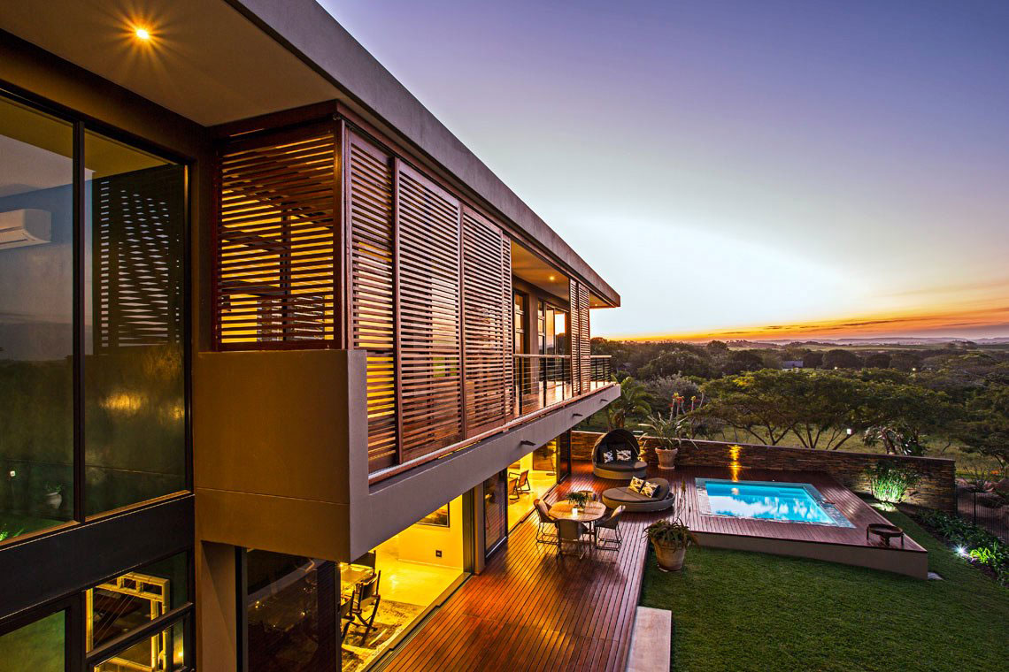 Pool, Terrace, Views, Contemporary Residence in Kwa Zulu Natal