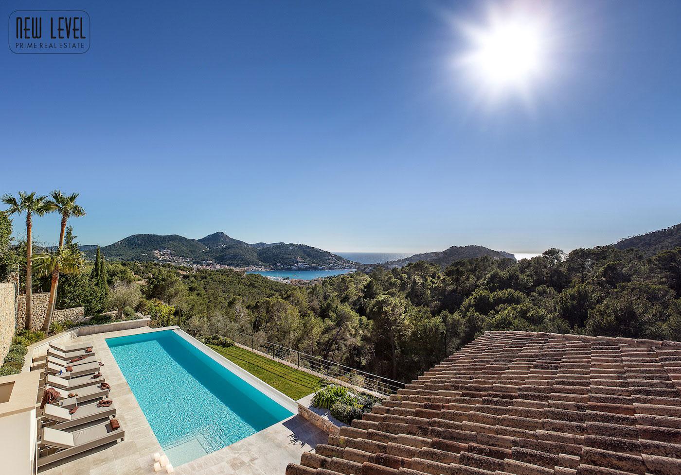 Pool, Terrace, Fabulous Villa in Puerto de Andratx, Mallorca