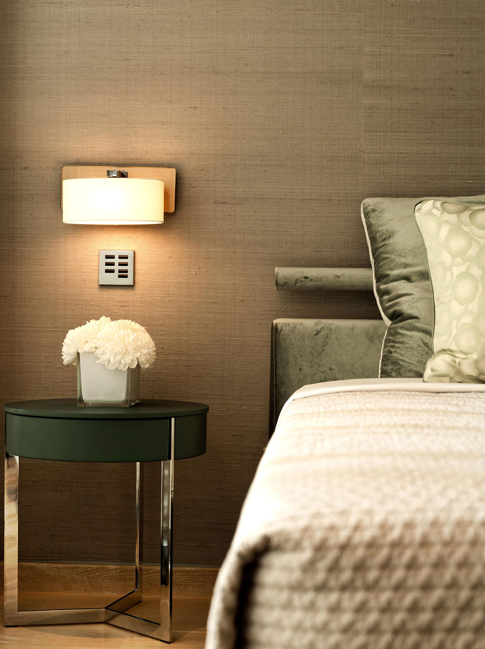 Side Table, Lighting, Bedroom, Family Home in Portugal