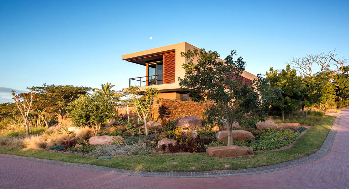 Street View, Gardens, Contemporary Residence in Kwa Zulu Natal