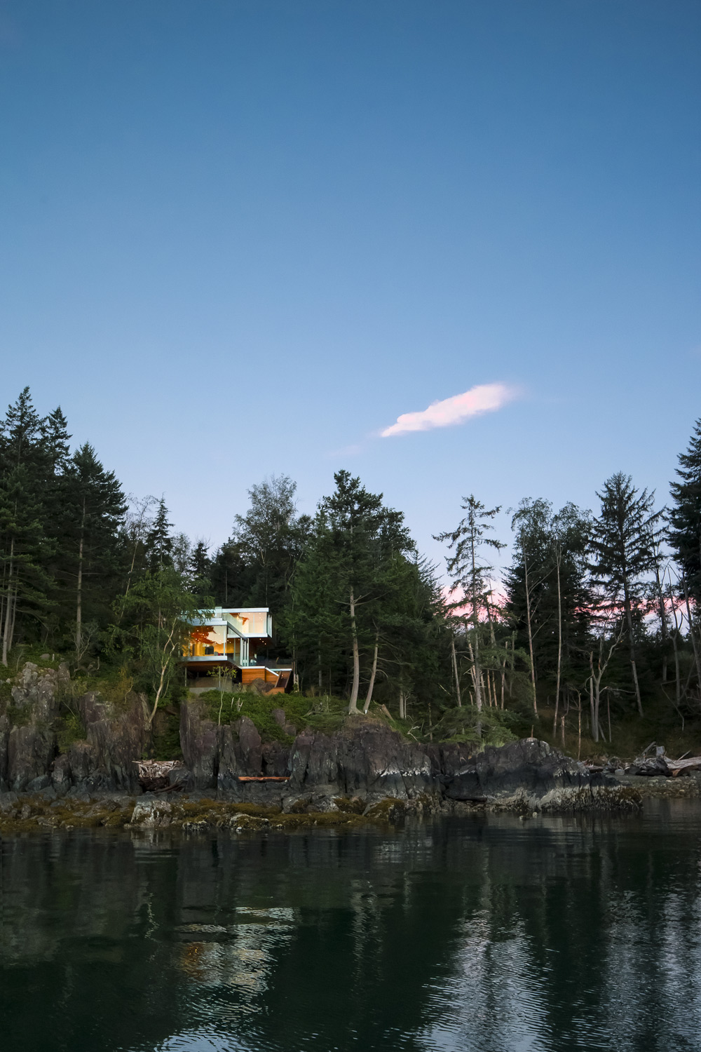 View from the Water, House on Gambier Island, British Columbia