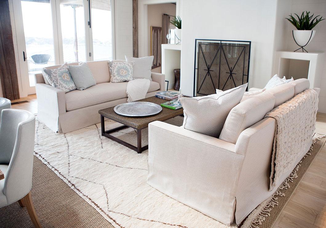 Fireplace, Sofas, Rug, Living Room
