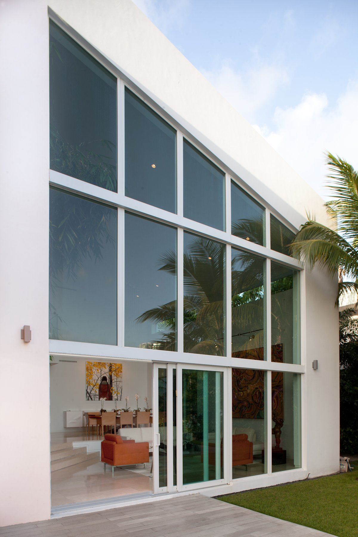 Glass Wall, Patio Doors, House in Golden Beach, Florida