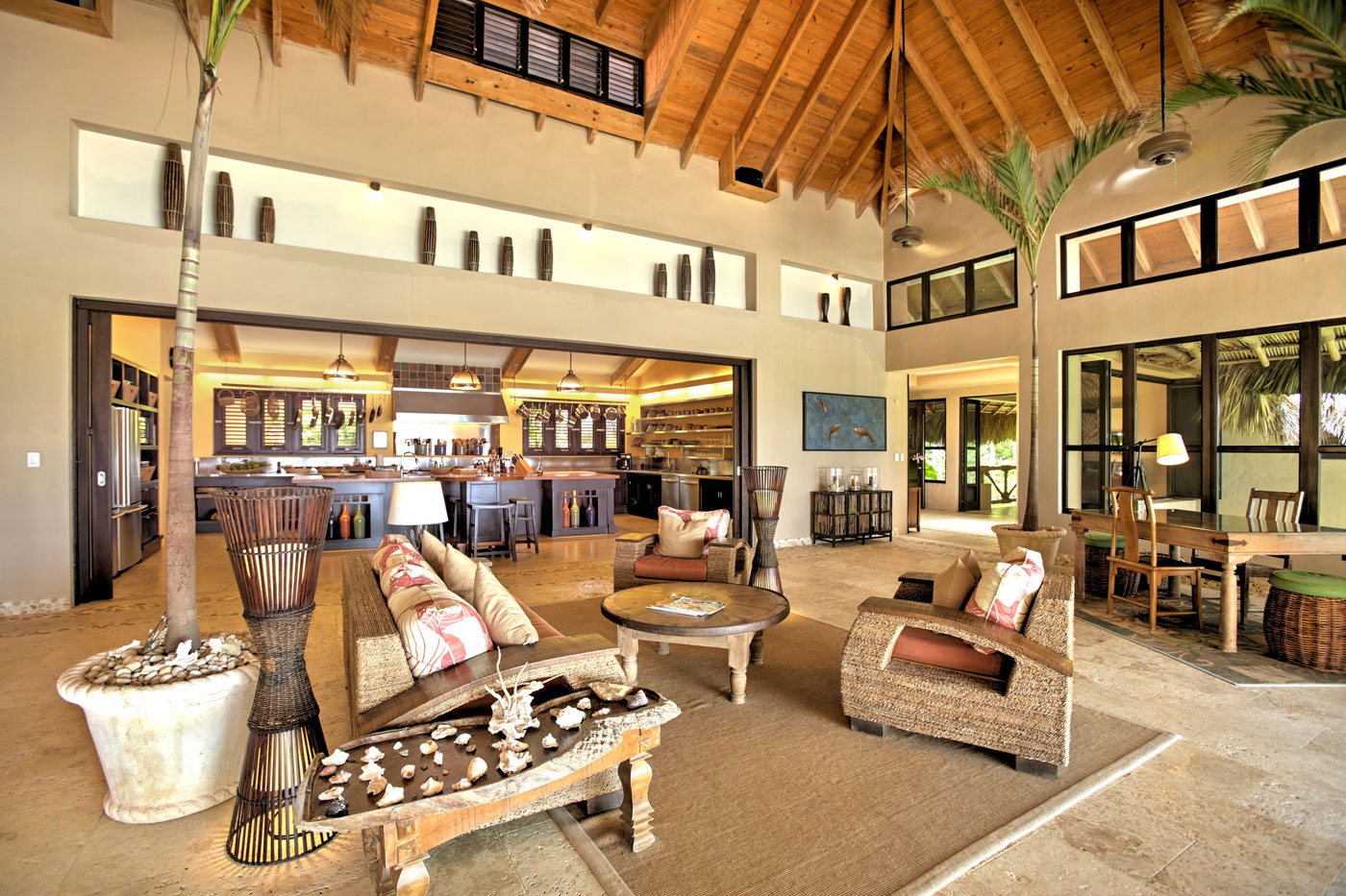 Living Space, High Wood Ceilings