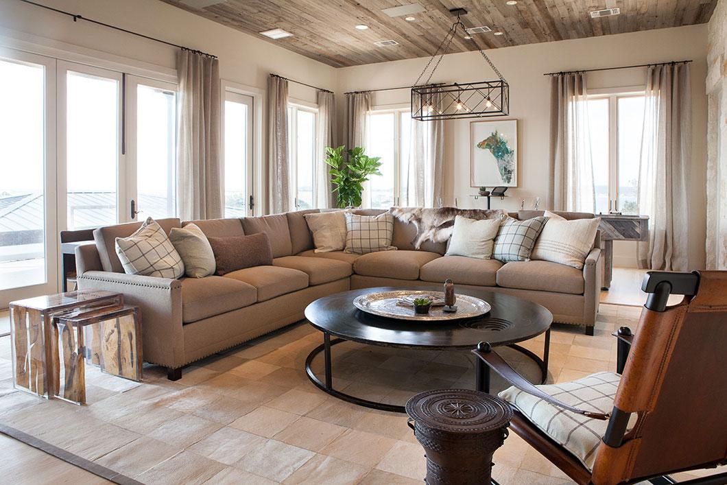 Coffee Table, Rug, Sofa, Lighting