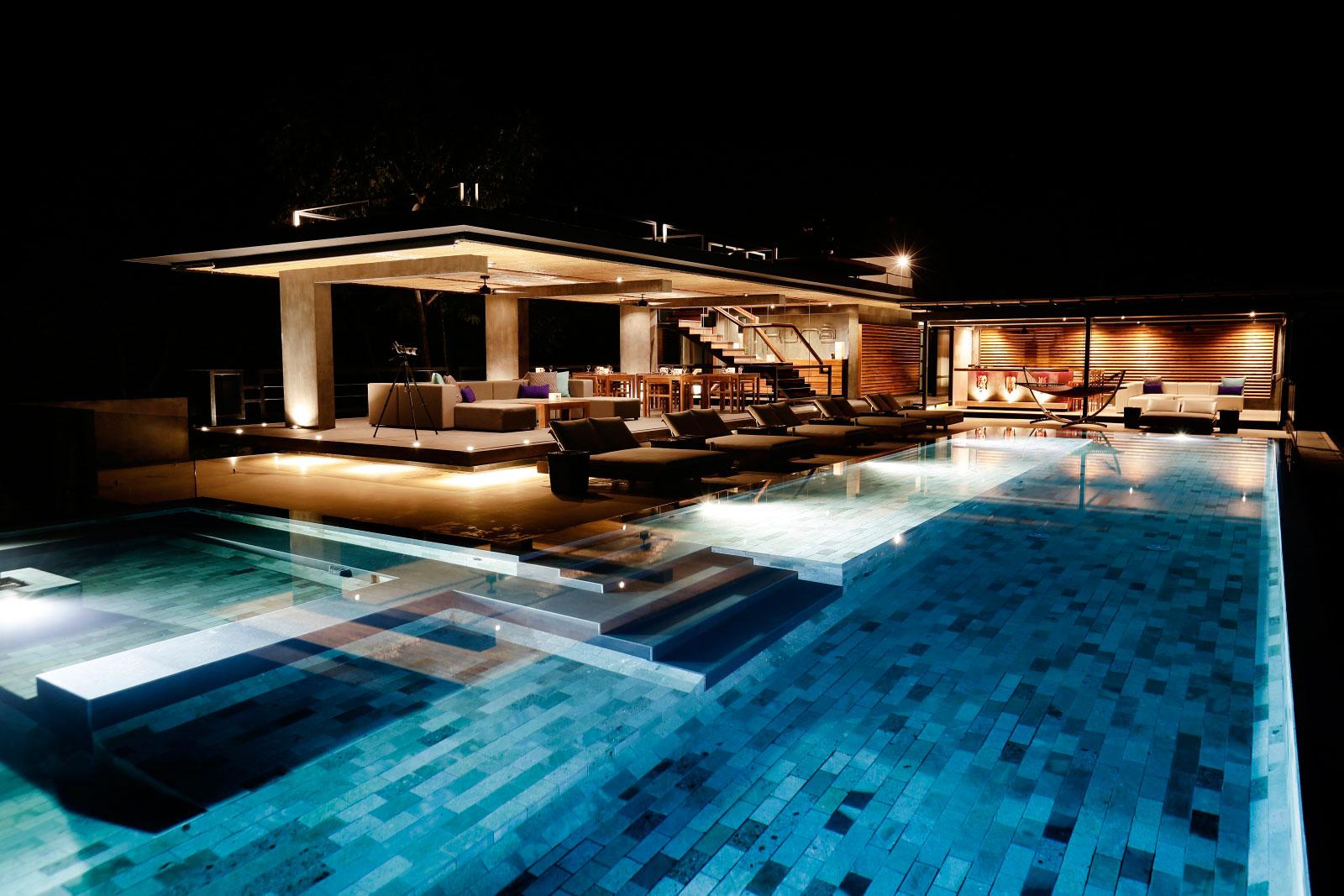 Pool, Lighting, Terrace, Holiday Villas in Costa Rica