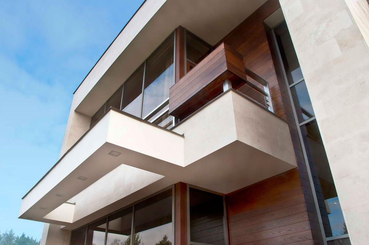 Wood & Glass Walls