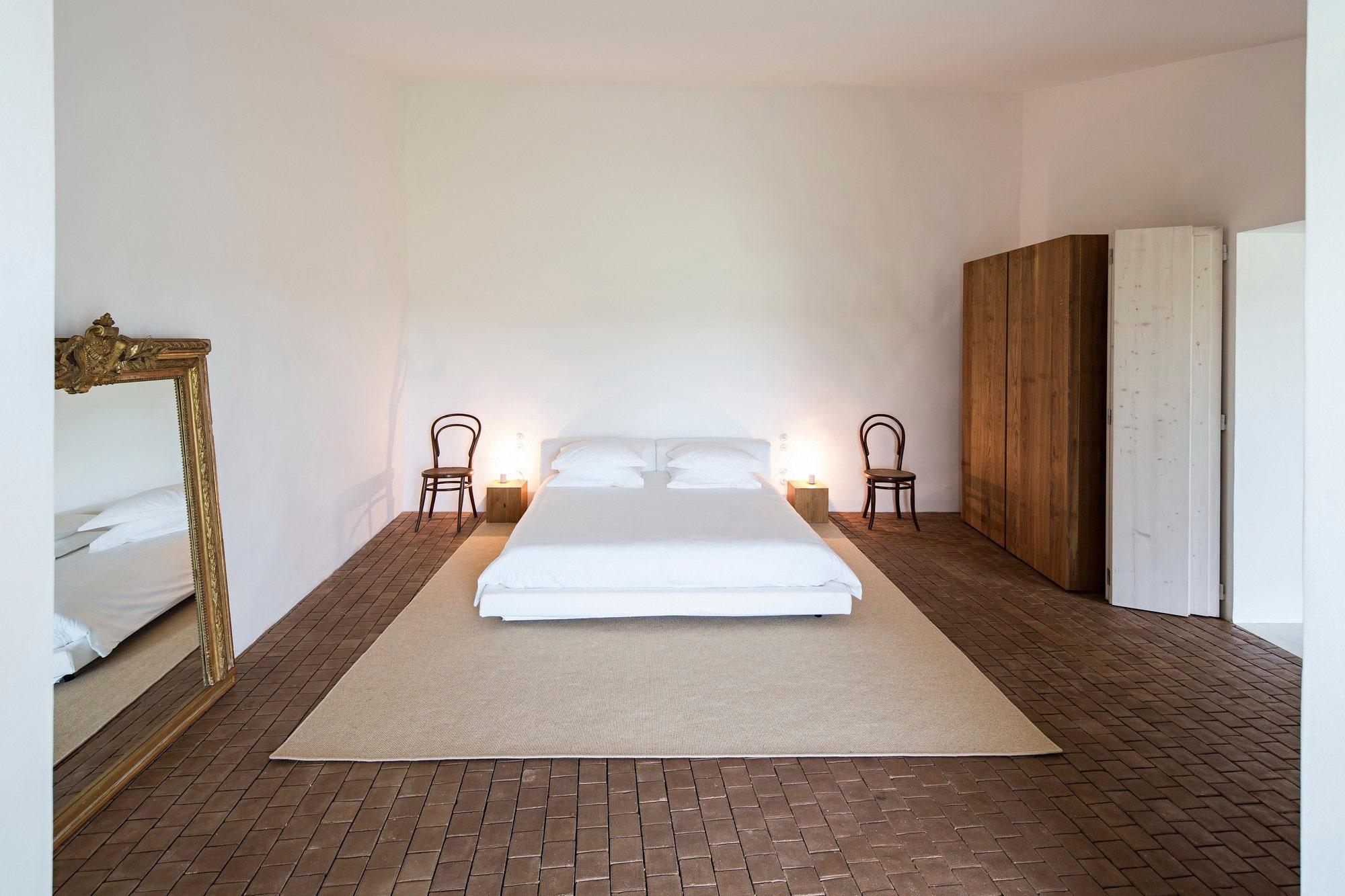 Bedroom, Rug, Large Mirror