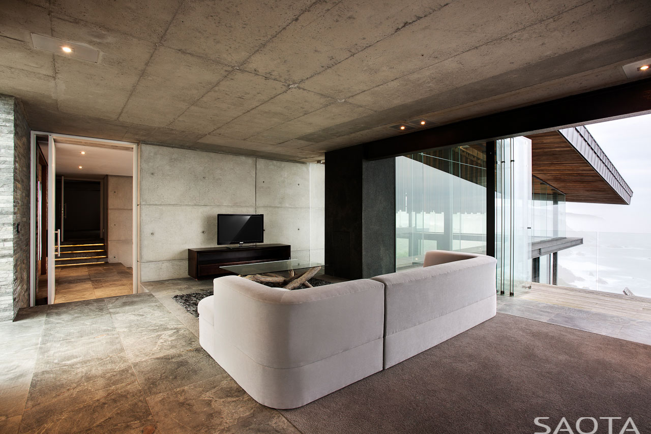 Concrete Ceilings, Walls, Living Room
